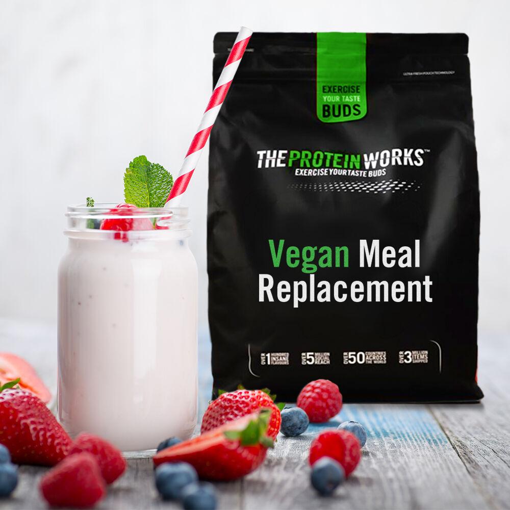 Vegan Meal Replacement, Stawberries N Cream, 500g